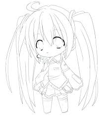 Anime Girls Coloring Pages Cute Anime Coloring Pages To Print Girl