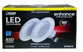 Enhance Vivid Natural Light 75 Watt Feit Enhance 90 Cri 75w Replacement Dimmable 2700k Soft White 5 To 6 Inch Led