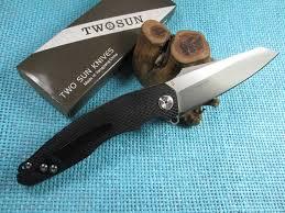 TwoSun Knives Black <b>CNC</b> G10 <b>Outdoor</b> Ball Bearings Folding ...