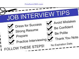 Job Interview Tips For Teens Must Avoid These Freshers360