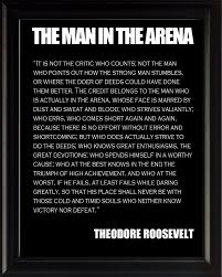 Theodore Teddy Roosevelt The Man In The Arena Quote Framed Picture 8x10 Photo