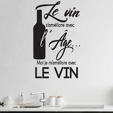 Sticker Citation Cuisine Le Vin S Am Liore Avec L Ge Stickers