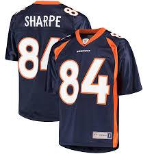 Broncos Navy Pro Replica Sharpe Line Jersey Denver Men's Player Retired Shannon Nfl