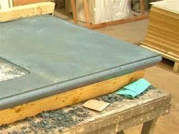 pour in place concrete countertop forms cast diy countertops
