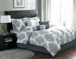 damask bedding set white and silver comforter elegant bedroom