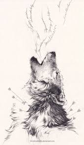howling wolf drawing tattoo. Wonderful Howling In Howling Wolf Drawing Tattoo