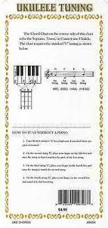 Uke Chord Chart For Ukulele Lesson G C E A 4 99 Picclick