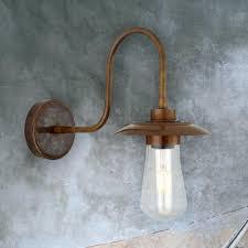 Outdoor Minimal Brass Wall Light Cl 31643