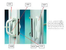 milgard v 4 latch double locking handle 1 7 16 thick door choose color
