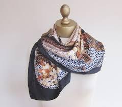 Designer Silk Scarves Silk Scarf Vintage Designer Scarf 1950s Silk Scarf Square