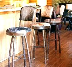 Leather Stools With Backs Rustic Bar Back Stool Plan   Chic Industrial  O58