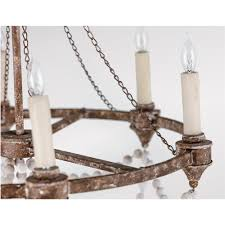 auvergne french country rustic iron white bead chandelier kathy kuo home view full size