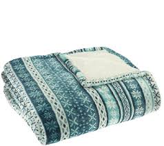 queen sherpa blanket. Fine Blanket Berkshire Queen Oversized Fair Isle Faux MinkSherpa Blanket On Sherpa O
