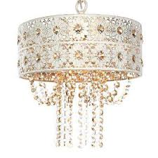 1 light champagne chandelier with jeweled blossoms shade