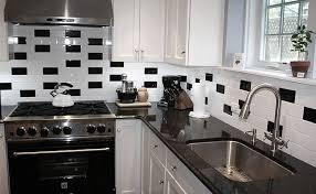 white and black kitchen backsplashes. Contemporary Kitchen Subway Black White Backsplash Tile Intended White And Black Kitchen Backsplashes