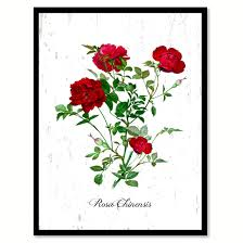 red rose flower canvas print with picture frame floral home decor wall art living room decoration gifts on red rose canvas wall art with red rose flower framed canvas print floral home decor wall art