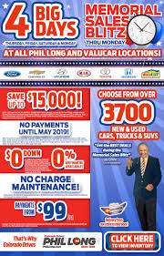 memorial day back to top phil long dealerships