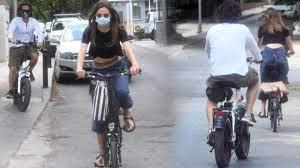 Alina Boz ve Mithat Can Özer bisiklet sürdü - Magazin Haberleri