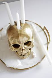 skull candle holder diy – a beautiful mess