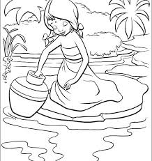 Native American Indian Girl Coloring Pages S Free Printable Page For