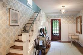 Small Picture 25 Gorgeous Entryways Clad in Wallpaper