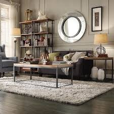 rustic modern living room furniture. tribecca home dixon rustic oak industrial occasional table overstock shopping great deals on modern living room furniture h
