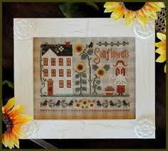 Little Miss Chart Little Miss Sunflower Cross Stitch Chart