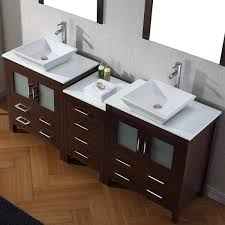 Add contemporary cool to your master bath with this newtown 72 double bathroom vanity set. Virtu Usa Dior 78 Inch Double Sink Vanity Set In Espresso Overstock 8910901