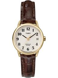 timex timex women s easy reader brown croco leather strap watch com