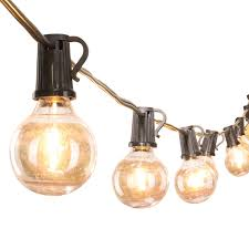 Shatterproof Patio Lights 25ft G40 Globe String Lights With 25 Shatterproof Led Bulbs