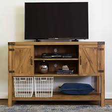 52 barn door buffet table console tv stand for tvs up to 55