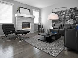 dark hardwood floors living room. Dark Hardwood Floor Grey Wall Black Couches Customized Living Room Table Urban Picture Contemporary Hanging Floors