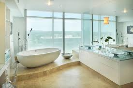 view in gallery a standalone tub becomes an instant focal point in the bathroom