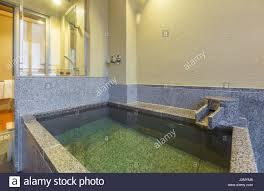 Private Onsen Badewanne Japanischen Stil Bad Stockfoto Bild