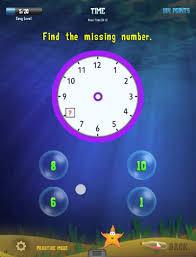 Tell The Time : 1st Grade Splash Math Worksheets App - YouTube