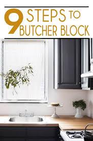 9 steps to diy butcher block countertop
