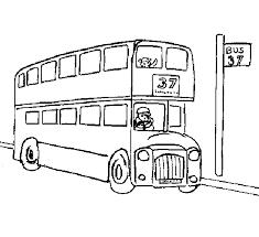 Kleurplaat Engelse Bus Dubbeldekker Londen Engels Pinterest Londen
