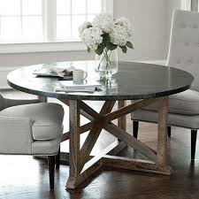 zinc dining room table. Dining Tables, Zinc Top Round Table Galvanized Metal Black Finished Of Room E