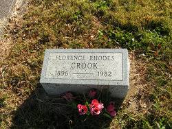 Florence Rhodes Crook (1896-1982) - Find A Grave Memorial
