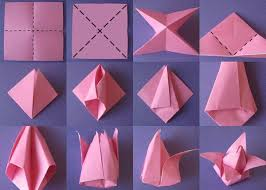 How To Make Flower With Paper Folding Make Tulip Flower Paper Folding Under Fontanacountryinn Com