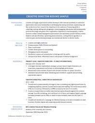 Fair It Director Resume Templates About Creative Director Resume Templates  Samples and Tips Online