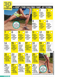 30 Day Leg Challenge Chart The Thigh Exercises You Need For Toned Thighs