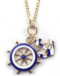 images gallery eissely navy blue wind anchor pendant necklace