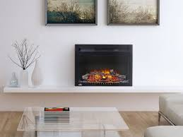 the napoleon cinema log 24 electric fireplace creates an inviting space with btu s of warmth plug in and enjoy this fireplace right away