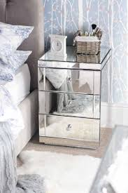 Mirrored Glass Bedroom Furniture Mirrored End Tables For Bedroom Three Drawers Chest Of Drawers