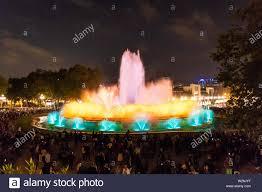 Light Show Fountain Barcelona Magic Fountain Of Montjuic Light Show At Plaza Espanya In