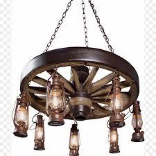 wheel chandelier light fixture wagon decorative lantern