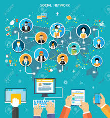 Social Media Network Connection Concept People In A Social Network