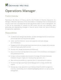 Manager Job Description For Resume – Goodvibesbrew.com