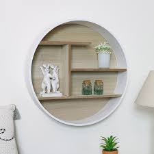 white rustic natural wall mounted